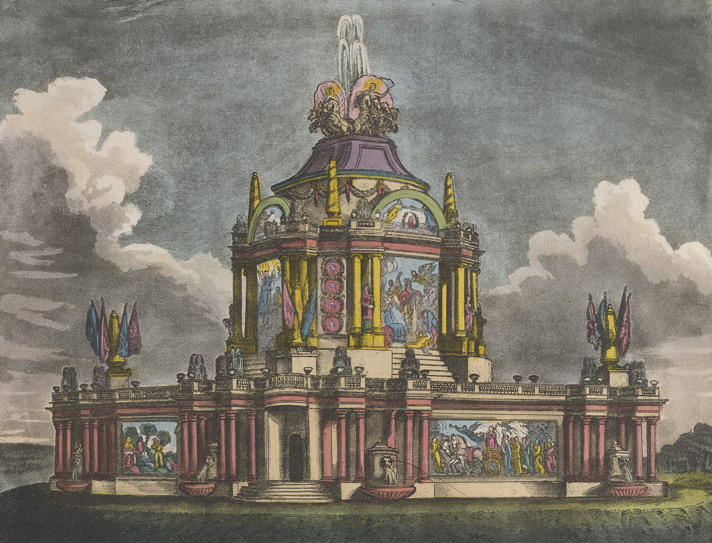 A perspective view of the Temple of Concord